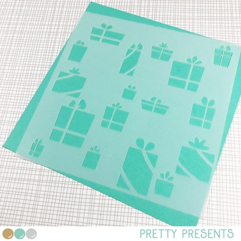 Create A Smile PRETTY PRESENTS Stencil scs35