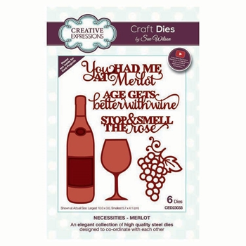 Creative Expressions MERLOT Sue Wilson Necessities Collection Dies ced23033