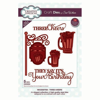 Creative Expressions THREE CHEERS Sue Wilson Necessities Collection Dies ced23034