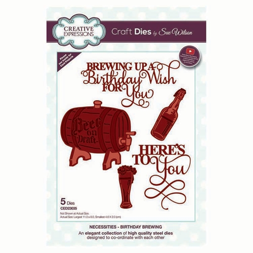 Creative Expressions BIRTHDAY BREWING Sue Wilson Necessities Collection Dies ed23035 Preview Image