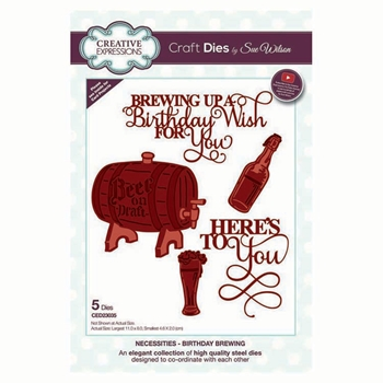 Creative Expressions BIRTHDAY BREWING Sue Wilson Necessities Collection Dies ed23035