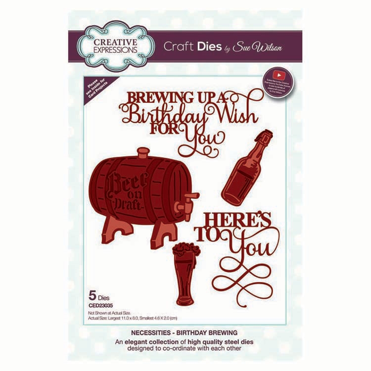 Creative Expressions BIRTHDAY BREWING Sue Wilson Necessities Collection Dies ed23035 zoom image