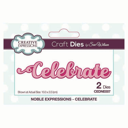 Creative Expressions CELEBRATE Sue Wilson Noble Expressions Collections Dies cedne007 Preview Image