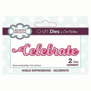 Creative Expressions CELEBRATE Sue Wilson Noble Expressions Collections Dies cedne007