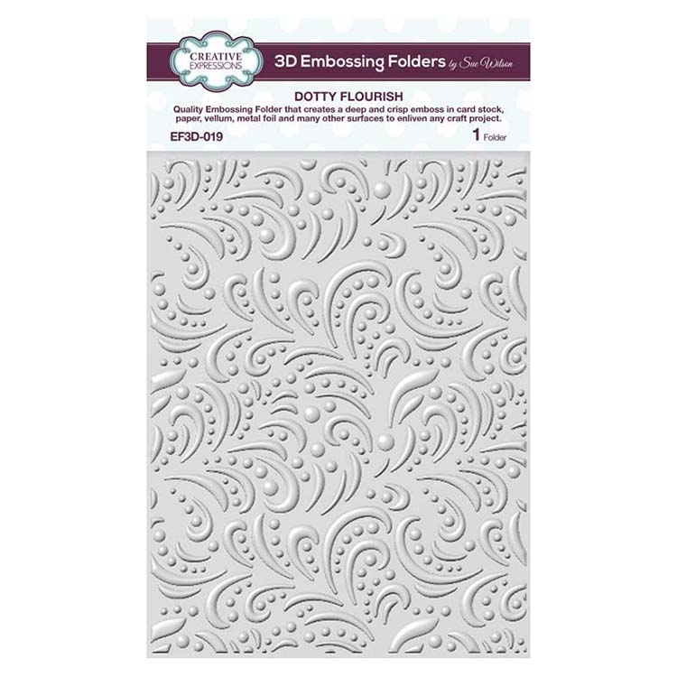 Creative Expressions DOTTY FLOURISH 3D Embossing Folder by Sue Wilson ef3d019 zoom image
