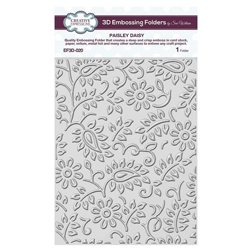 Creative Expressions PAISLEY DAISY 3D Embossing Folder by Sue Wilson ef3d020 Preview Image