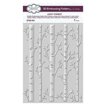 Creative Expressions LEAFY FOREST 3D Embossing Folder by Sue Wilson ef3d021
