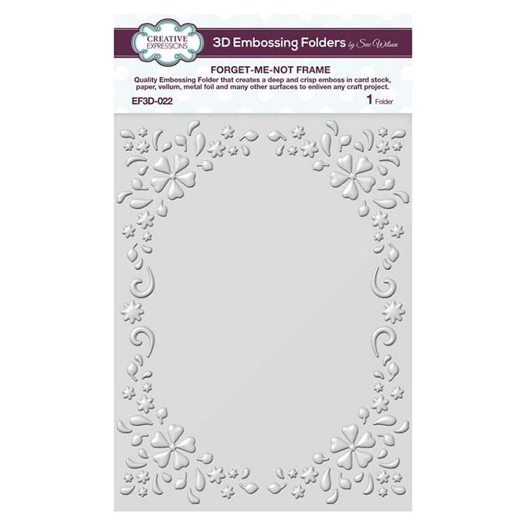 Creative Expressions FORGET-ME-NOT FRAME 3D Embossing Folder by Sue Wilson ef3d022 zoom image