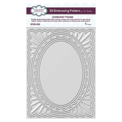 Creative Expressions SUNBURST FRAME 3D Embossing Folder by Sue Wilson ef3d023 Preview Image