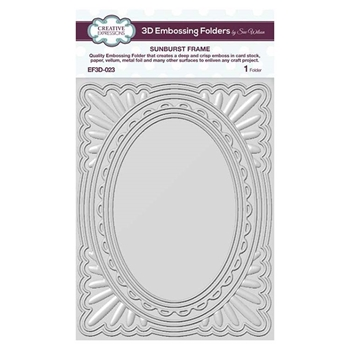 Creative Expressions SUNBURST FRAME 3D Embossing Folder by Sue Wilson ef3d023