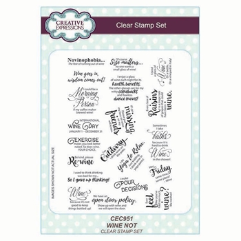 Creative Expressions WINE NOT Clear Stamps cec951