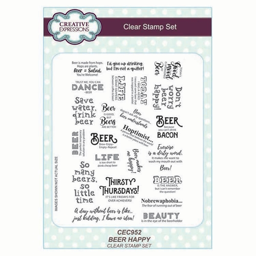 Creative Expressions BEER HAPPY Clear Stamps cec952 Preview Image