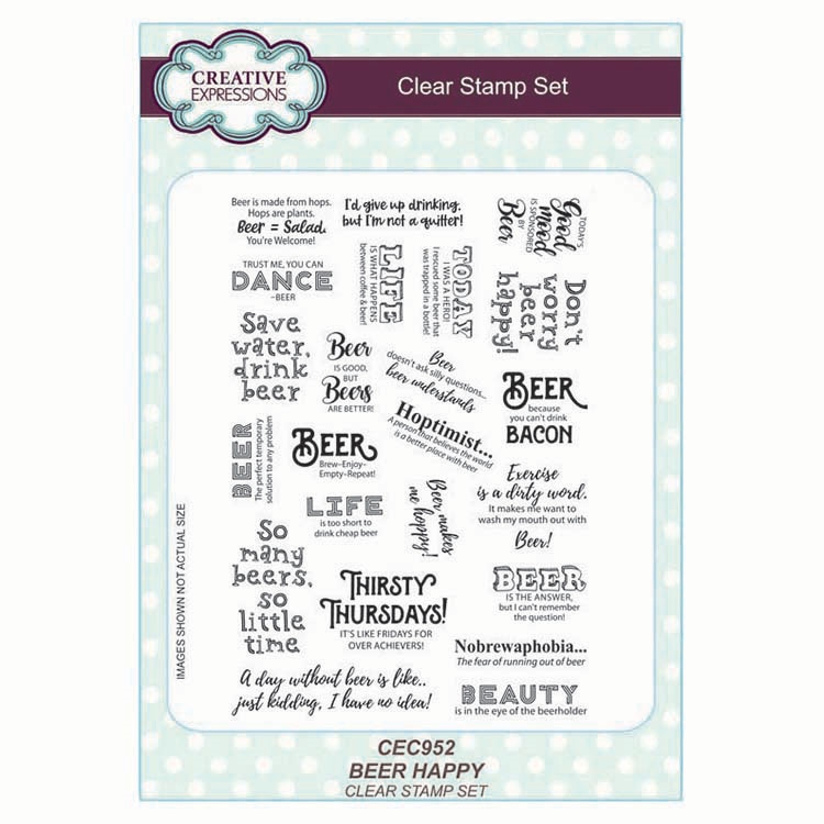 Creative Expressions BEER HAPPY Clear Stamps cec952 zoom image