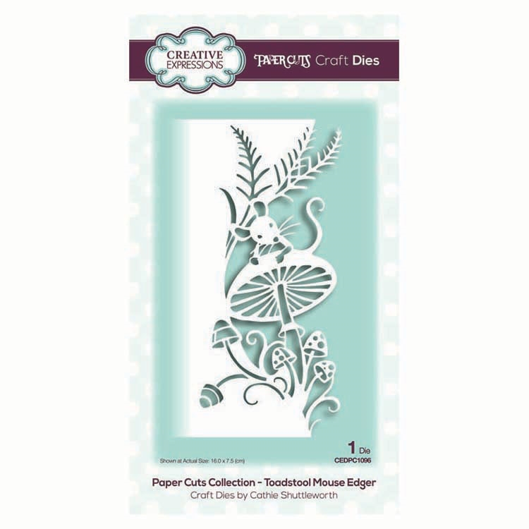 Creative Expressions TOADSTOOL MOUSE EDGER Paper Cuts Collection Dies cedpc1096 zoom image