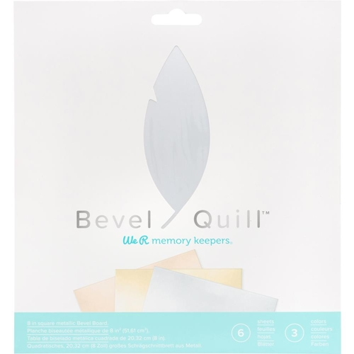We R Memory Keepers METALLIC BEVEL BOARD Bevel Quill 661146* Preview Image