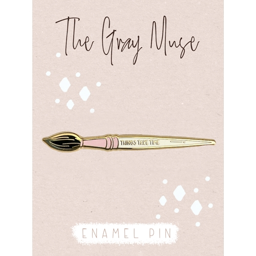 The Gray Muse THINGS TAKE TIME PAINT BRUSH Enamel Pin tgm-n19-p81 Preview Image