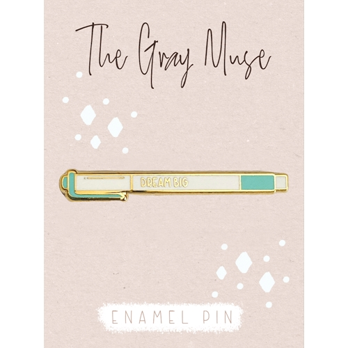The Gray Muse DREAM BIG Enamel Pin tgm-n19-p82 Preview Image
