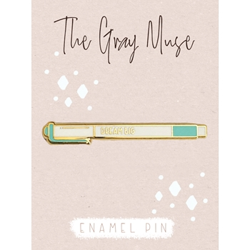 The Gray Muse DREAM BIG Enamel Pin tgm-n19-p82