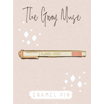 The Gray Muse PLANNER ADDICT Enamel Pin tgm-n19-p86