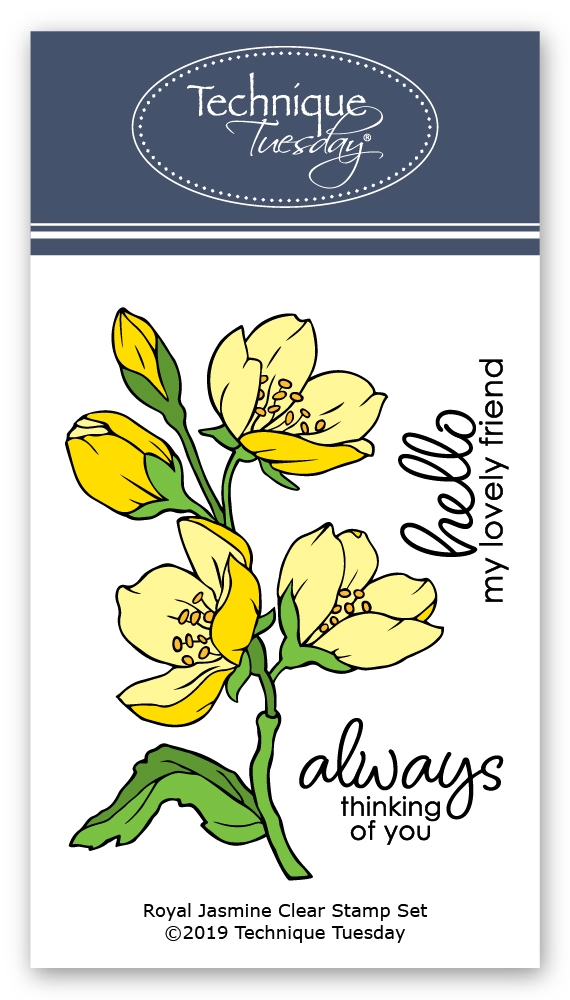 Technique Tuesday ROYAL JASMINE Clear Stamps 02810 zoom image