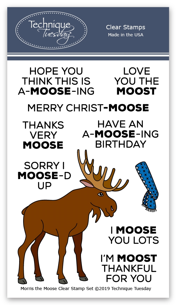 Technique Tuesday MORRIS THE MOOSE Clear Stamps 02815 zoom image