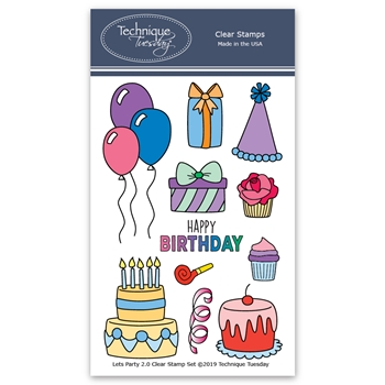 Technique Tuesday LET'S PARTY Clear Stamps 02463