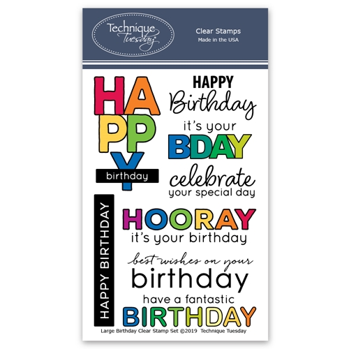 Technique Tuesday LARGE BIRTHDAY Clear Stamps 02818 Preview Image