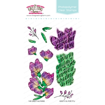 The Greeting Farm GRATEFUL FOR YOU Clear Stamps TGF519*