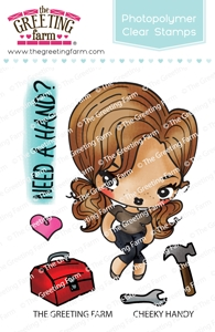The Greeting Farm CHEEKY HANDY Clear Stamps TGF517 Preview Image