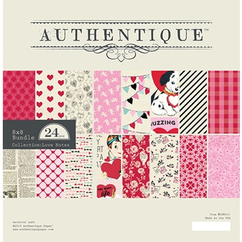Authentique 8 x 8 LOVE NOTES Paper Pad lvn013