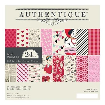 Authentique 6 x 6 LOVE NOTES Paper Pad lvn010