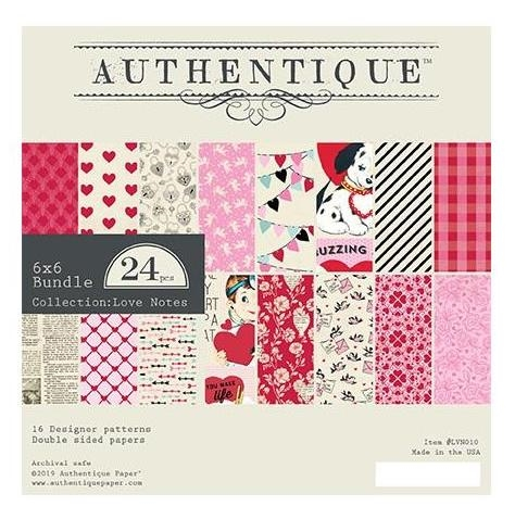 Authentique 6 x 6 LOVE NOTES Paper Pad lvn010 zoom image