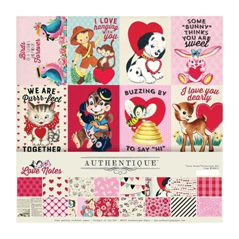 Authentique LOVE NOTES 12 x 12 Collection Kit lvn011*