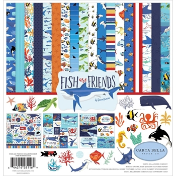 Carta Bella FISH ARE FRIENDS 12 x 12 Collection Kit cbfaf111016