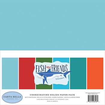 Carta Bella FISH ARE FRIENDS 12 x 12 Solids Kit cbfaf111015
