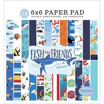 Carta Bella FISH ARE FRIENDS 6 x 6 Paper Pad cbfaf111023