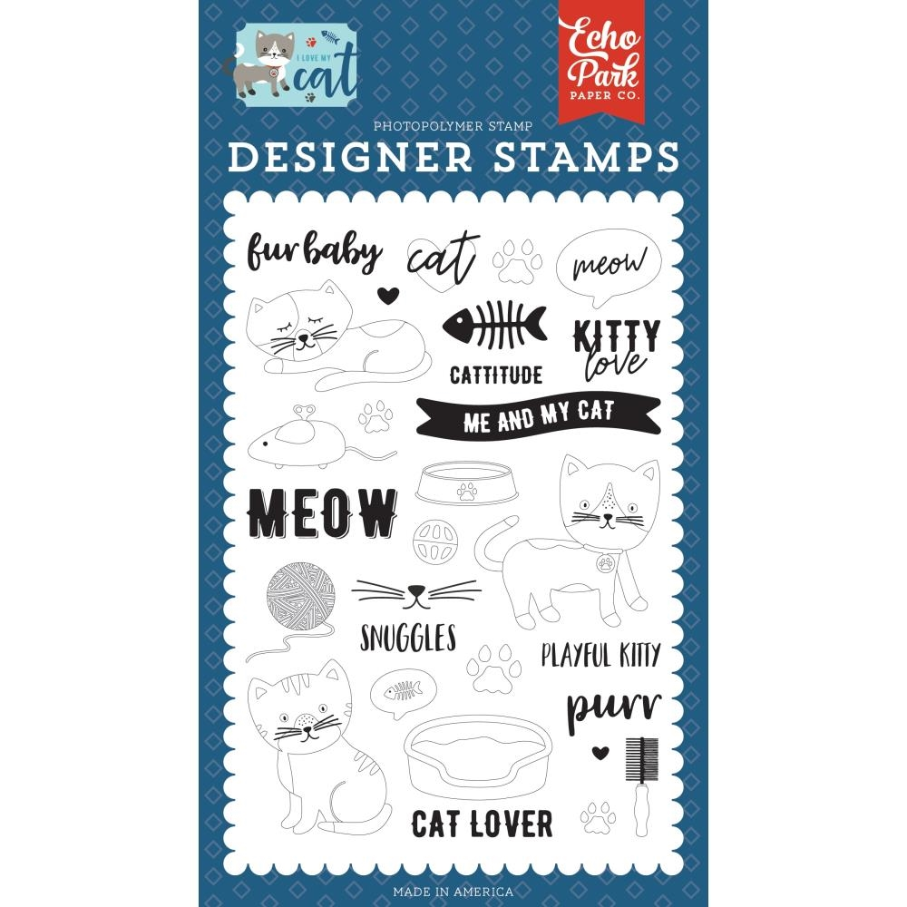 Echo Park KITTY LOVE Clear Stamps lmc199040 zoom image