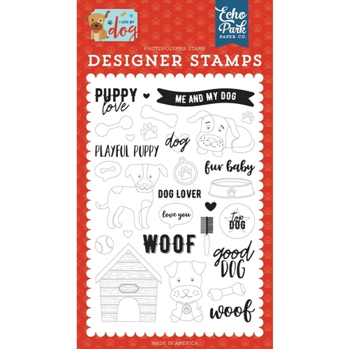 Echo Park PUPPY LOVE Clear Stamps lmd198040* Preview Image