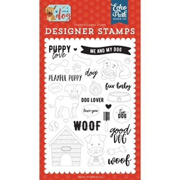 Echo Park PUPPY LOVE Clear Stamps lmd198040