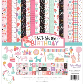 Echo Park IT'S YOUR BIRTHDAY GIRL 12 x 12 Collection Kit tbg200016