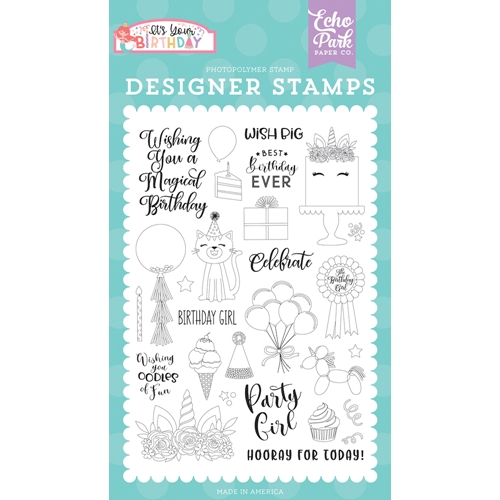 Echo Park BIRTHDAY GIRL Clear Stamps tbg200042 Preview Image