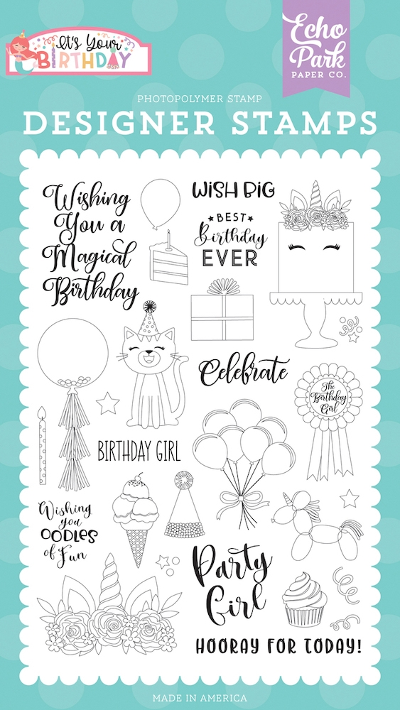 Echo Park BIRTHDAY GIRL Clear Stamps tbg200042 zoom image