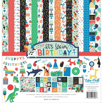 Echo Park IT'S YOUR BIRTHDAY BOY 12 x 12 Collection Kit ybb201016