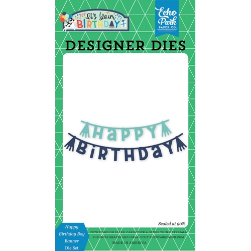 Echo Park HAPPY BIRTHDAY BOY BANNER Die Set ybb201040 Preview Image