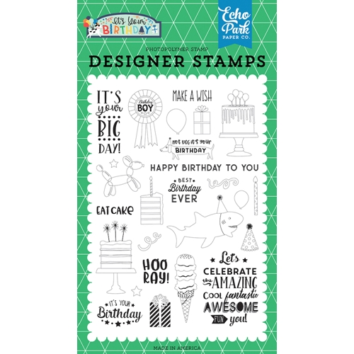 Echo Park BIRTHDAY BOY Clear Stamps ybb201042 Preview Image