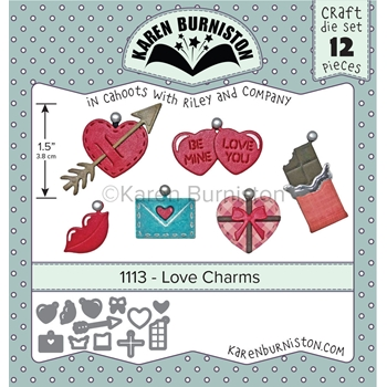 Karen Burniston LOVE CHARMS Die Set 1113