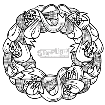 Stamplistic Cling Stamp WREATH j191101