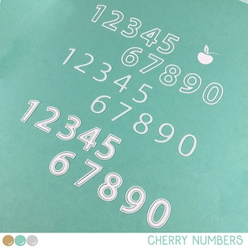 Create A Smile CHERRY NUMBERS Cool Cuts Die dcs30