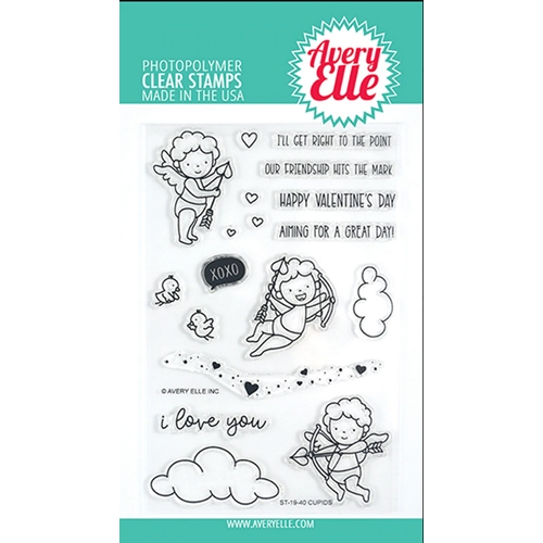 Avery Elle Clear Stamps CUPIDS ST-19-40 Preview Image