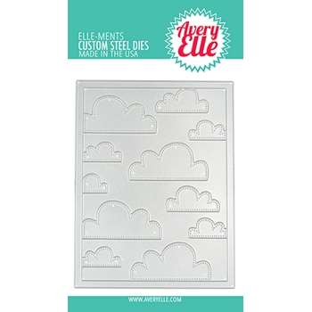 Avery Elle Steel Dies CLOUDS MAT D-08-16
